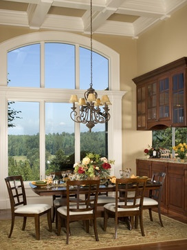 Aldarra 16 dining room with picture window - traditional - dining room - - by John F Buchan Homes