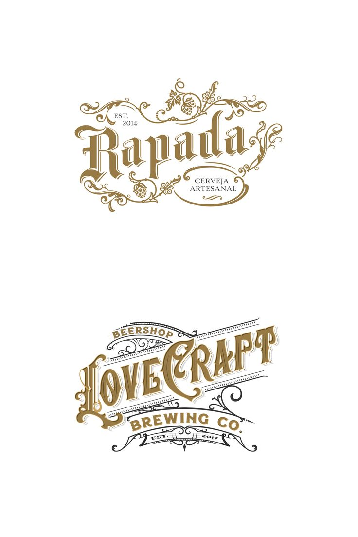 Brand identity for a craft beer brand & a logotype for a beer shop.