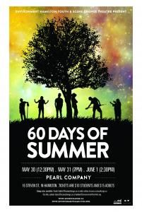 eco-theatre - a play about high school students who attempt to live 60 summer days with no eco footprint.