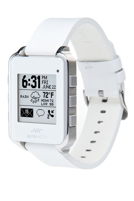 """smart"" watch with leather strap...it sure does looks more expensive than USD199: Leather White Watches, Meta Watches, Android Connection, Metawatch Frames, White Leather, Apples Smartwatch, Smart Watches, Connection Smartwatch, Frames Smartwatch"