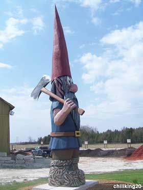 Mr. Mulch the giant gnome  Sturgeon Bay, Wisconsin