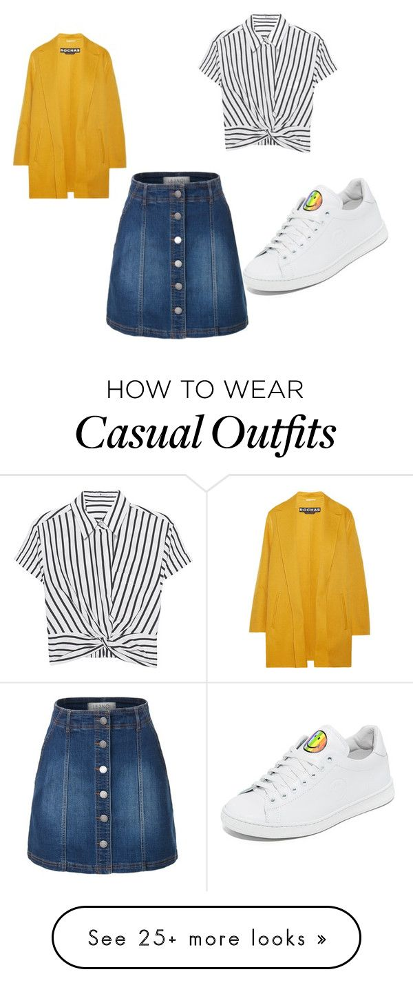 """Casual chic!"" by carlinfashion on Polyvore featuring LE3NO, T By Alexander Wang, Rochas and Joshua's"