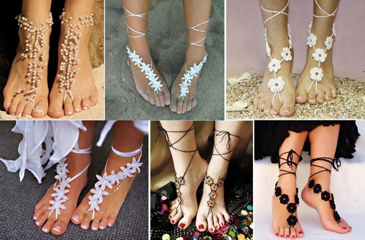 I can't resist these glamorous-barefoot-beach-sandals, how about you  ?  #diy #crafts
