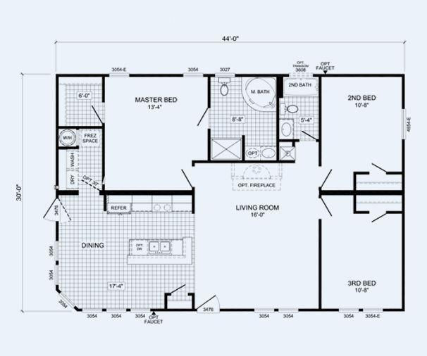 Tiny Home Designs: Cavalier Homes Custom Made Houses ---The Randall :: 6719PS