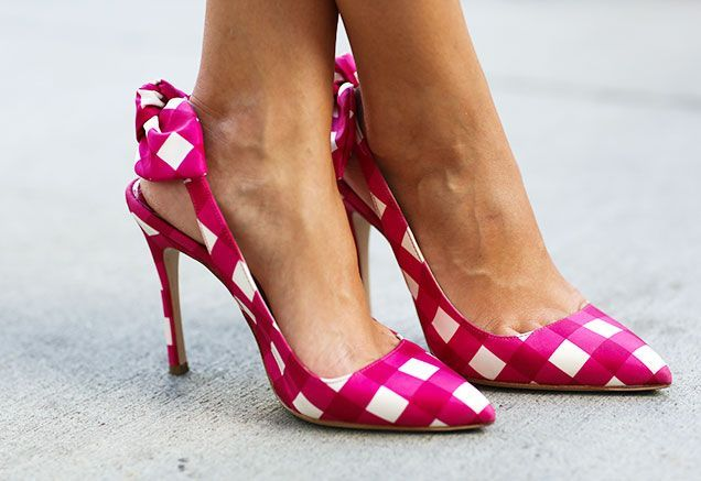 I'm not a big fan of wearing pink or slingbacks, but these Miu Miu shoes are cute! Street Chic: New York Fashion Week Accessories