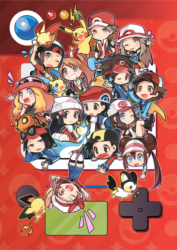All of the pokemon game characters!