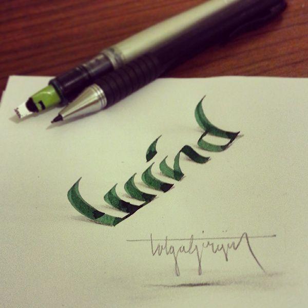 3D Anamorphic Lettering by Tolga Girgin
