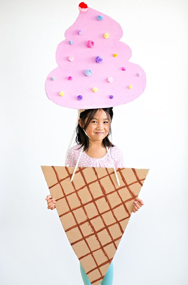 Ice Cream Cone Diy Halloween Costume Kid Halloween