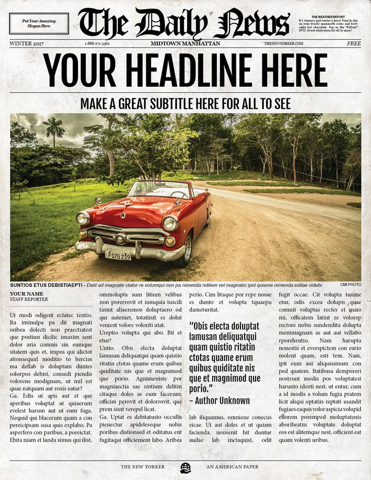15 best newspaper template images on Pinterest Newspaper, Adobe - old newspaper template