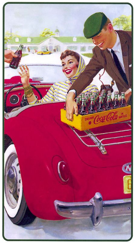 Illustration vintage Coca-Cola