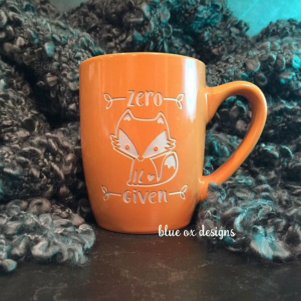 Zero Fox Given Coffee Mug by BlueOxDesigns on Etsy https://www.etsy.com/listing/265434642/zero-fox-given-coffee-mug