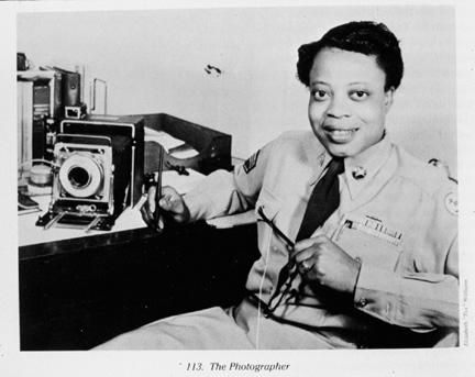 Williams was the first black Women's Auxiliary Air Corps (WAC) photographer. She made the army her career from 1944 on, documented air and ground maneuvers, recorded medical procedures, and provided images for intelligence. In 1949 she became the first black woman admitted to the Signal Corps photography school at Fort Monmouth, New Jersey, graduating at the top of her class.