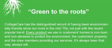 Why, yes, we are eco-friendly! www.cottagecare.com