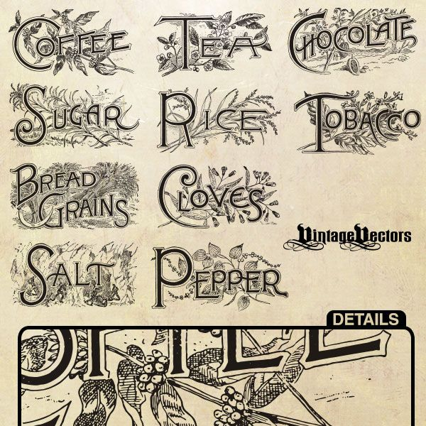 Vintage Kitchen Labels: 318 Best Recipe Scrapbooking-Printables And Blank Recipe