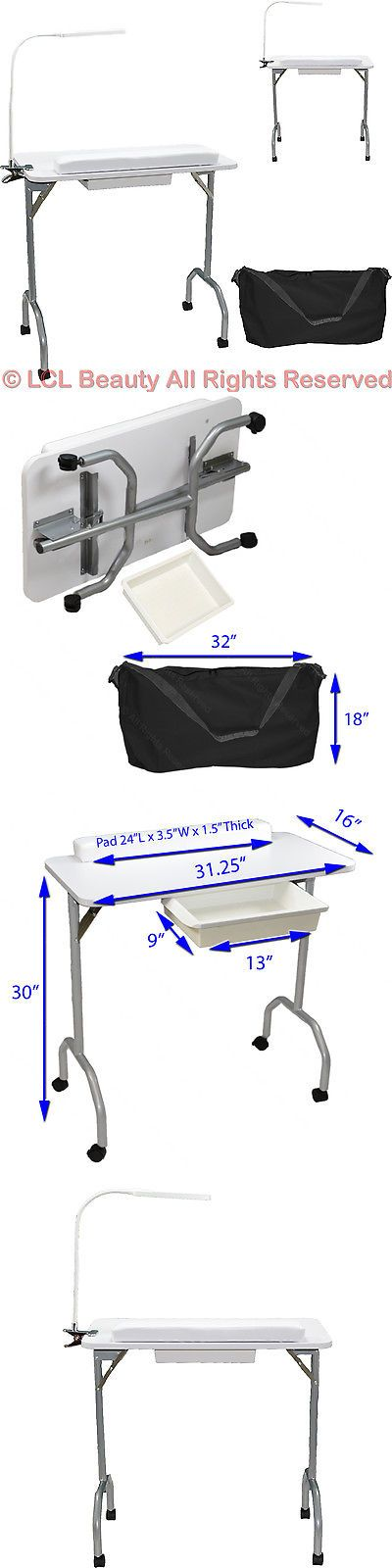 Other Nail Care: New White Portable Manicure Nail Table Station Desk Salon Spa Beauty Equipment -> BUY IT NOW ONLY: $89.88 on eBay!
