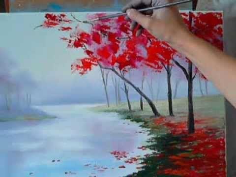 Живопись маслом. Макс Cкоблинский.Аллея.как рисовать. бесплатно Max Skoblinsky - YouTube