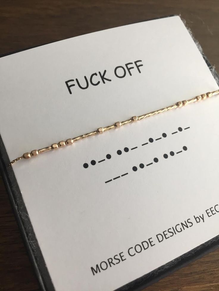 A personal favorite from my Etsy shop https://www.etsy.com/listing/486860993/fuck-off-morse-code-necklace-in-sterling
