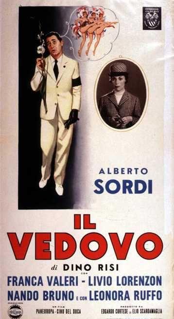Il vedovo 1959 di Dino Risi con Alberto Sordi, Franca Valeri, Livio Lorenzon, Nando Bruno e Leonora Ruffo.