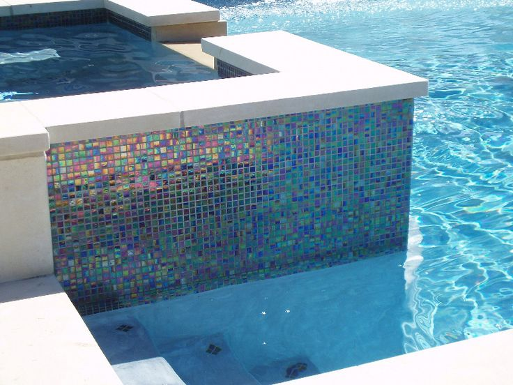 13 Best Pools With Glass Tile Images On Pinterest Swimming Pools Glass Mosaic Tiles And Water