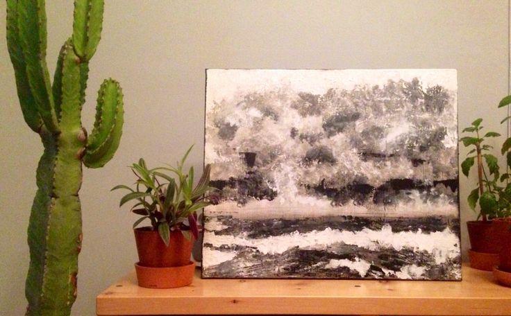 Tempête // STORM //peinture acrylique // Acrylic painting // noir et blanc // Black and white //Loneliness (Calme et Solitude) par DJUMTL sur Etsy https://www.etsy.com/fr/listing/400051059/tempete-storm-peinture-acrylique-acrylic