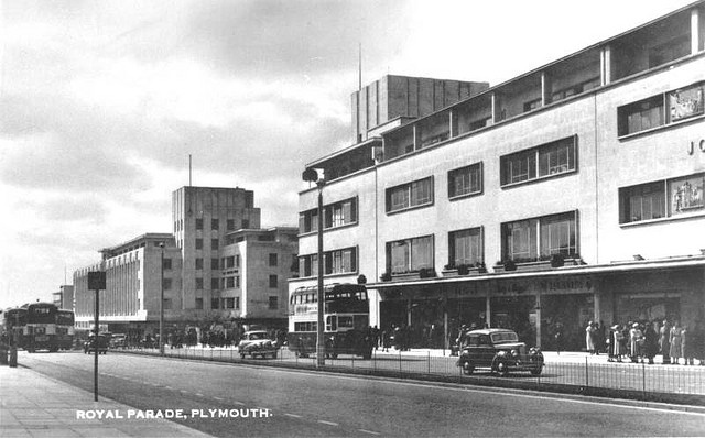 Royal Parade, Plymouth c.1950's by derektait, via Flickr