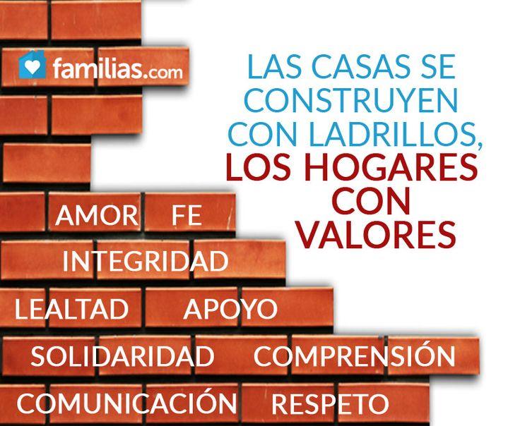 Los hogares se construyen de valores