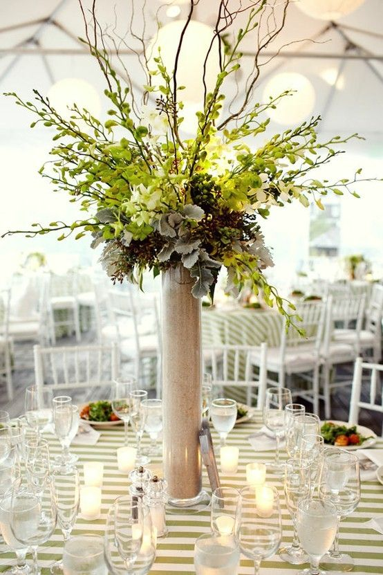 Love this tall centerpiece by dianne marie nesting