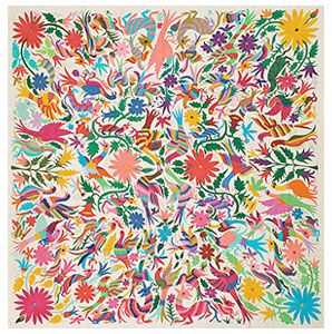 Add Luxurious Beauty with an Otomi Embroidered Tapestry