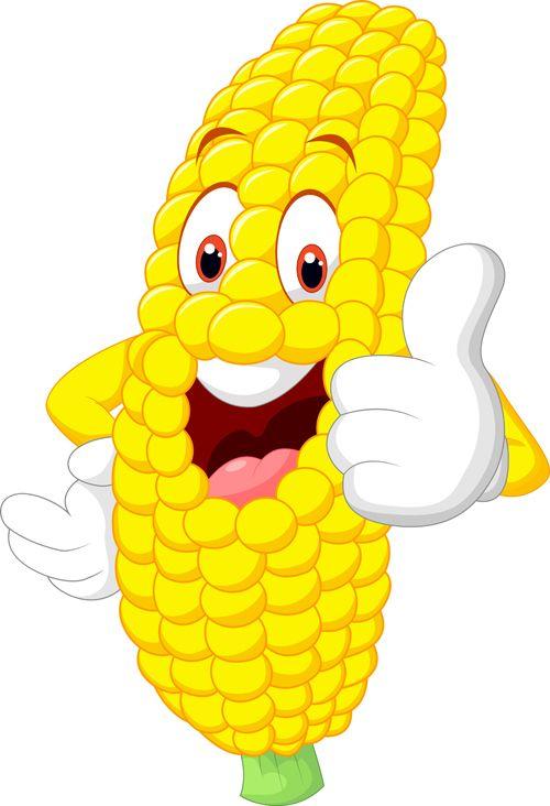 Funny Corn Cartoon Styles Vectors 04