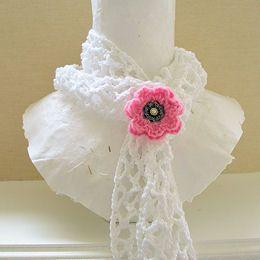 Simplicity: Skinny Summer Scarf - Free Crochet PDF PatternSkinny Summer, Pdf Pattern, Crochet Pdf, Free Crochet, Crochet Free Pattern Summer, Skinny Crochet Scarf Pattern, Free Wedding Crochet Pattern, Crochet Summer Scarf, Flower Pattern