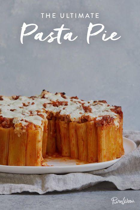 The Ultimate Pasta Pie via @PureWow via @PureWow