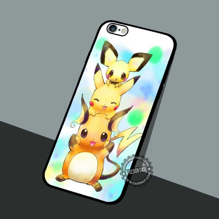 Pikachu Evolutions Family - iPhone 7 Plus 6S SE Cases & Covers #cartoon #pokemon