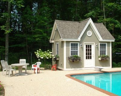pool shed For the Home Pinterest
