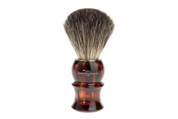 "Brocha de afeitar de tejón ""Pure Badger"" (81P13) con un hermoso mango de gran calidad de plástico, en forma de concha, para un afeitado óptimo. #brochadeafeitar #tejon #brocha #afeitadoclásico #afeitado"