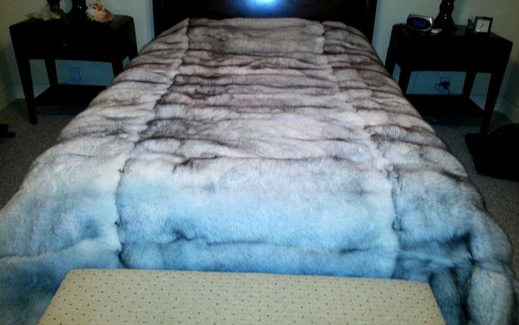 Blue Fox Fur Blanket Throw The only way to sleep with Fox