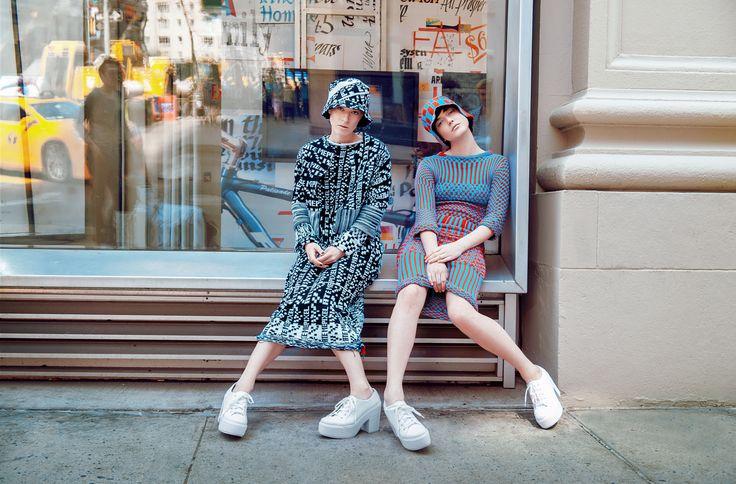 Photo By: Mark Elzey Jr | CMYKcolours Model: Alaia Baldwin  Hannah Vandermolen  Makeup: Yana Gorcheva  Designer: Haley New Retoucher: Alexandra Kalnina Assistant: Robert Giordano  Alexander Lahaye   #Fashion #Pixels #Future #Cmykcolours #Creative #art