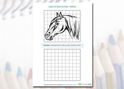 22 best images about the grid method on pinterest - Printable Drawing Worksheets