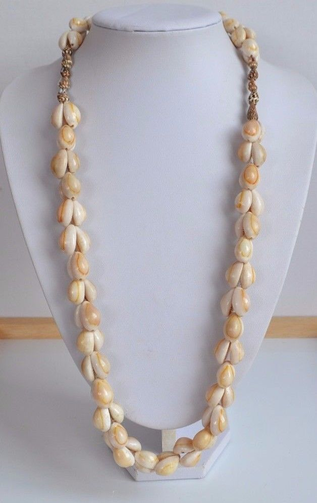 Artisan handmade Tribal Hawaiian COWRIE SHELL NECKLACE beach resort wear