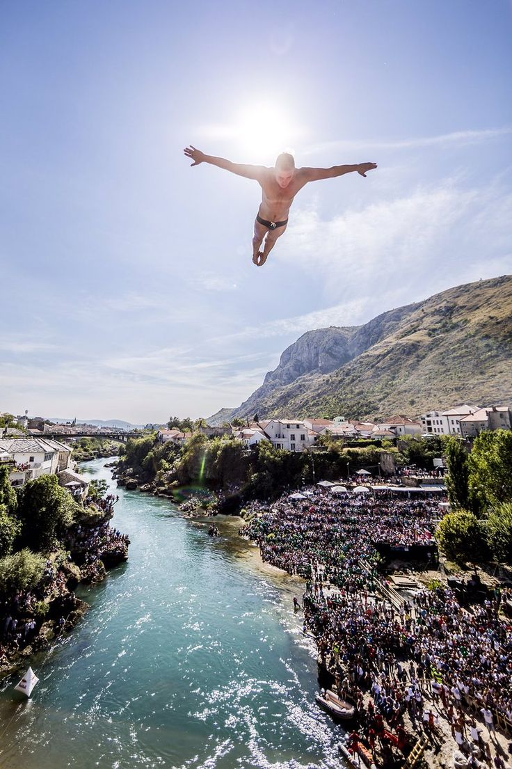 25 best red bull cliff diving event in mostar images on pinterest cliff diving red bull and - Highest cliff dive ...
