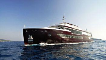 bateau passagers de luxe avec bar restaurant et discothèque