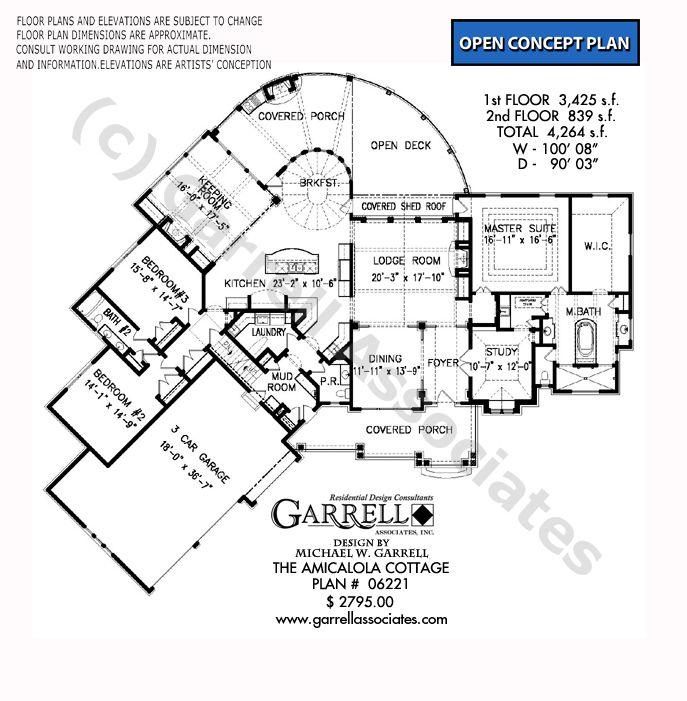 Amicalola Cottage 06221 Garrell Associates Inc Floor Plans House Plans Craftsman Style House Plans
