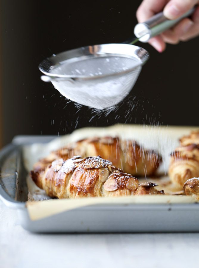 puff pastry almond croissants I howsweeteats.com