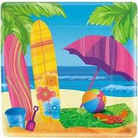Snack Plates Surf's Up Pkt8 $6.95 A549782