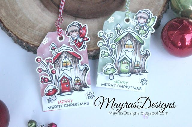 Frosty Fairy Tags from the Mayras Designs blog. #EllenHutsonLLC #TwelveTagsofChristmasWithaFeminineTwist