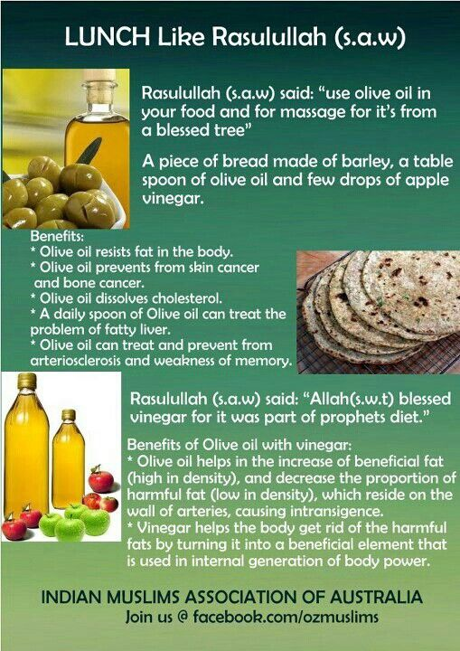 Useful health tips from the #Prophet (s.a.w.).