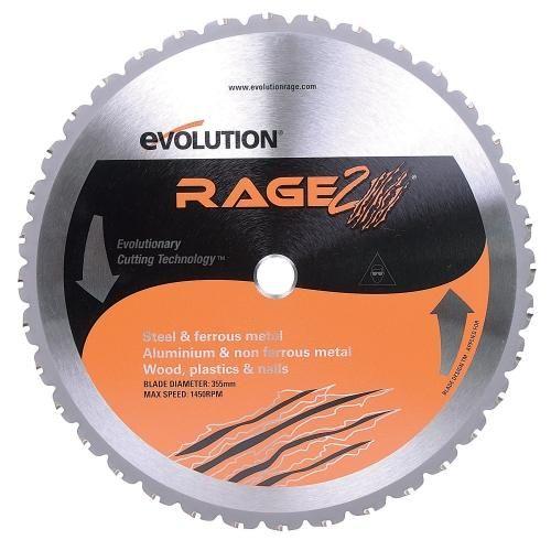 "Evolution RAGE355 Rage 2 Multi- Purpose Saw Blade, 14"""