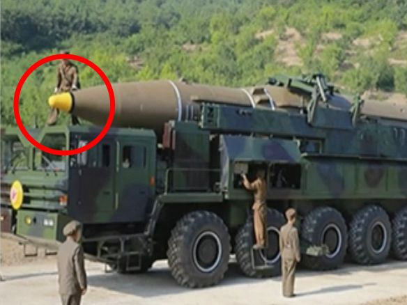 """A tiny detail from North Korea's missile launch points to an even more dangerous threat - North Korea demonstrated its ability to reach the continental US with a nuclear-capable ballistic missile on July 4, but close analysis of launch footage may point to another dangerous technological development.  Unlike other North Korean missiles, the intercontinental-range Hwasong-14 missile uses a """"shroud,"""" ora hollow cover instead of a more solid nosecone, researchershave discovered.  ICBMs…"""