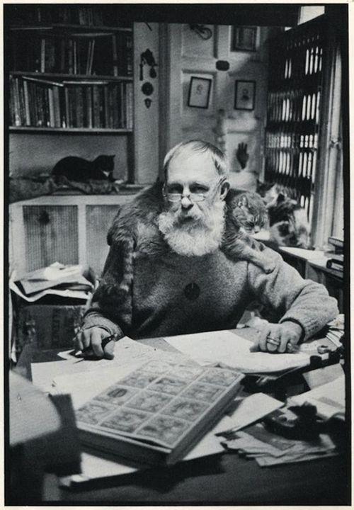 Edward Gorey, known for his macabre, gothic illustrated books including The Gashlycrumb Tinies and The Doubtful Guest, as well as for illustrating for others' books such as T.S. Eliot's Old Possum's Book of Practical Cats.