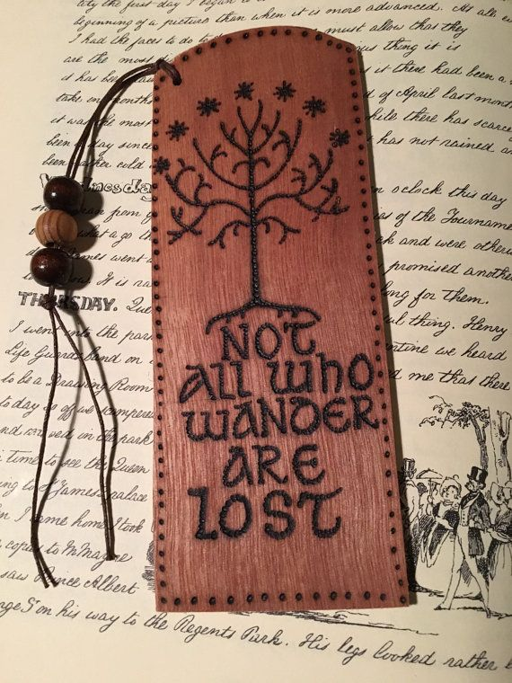 Bookmark, Lord of the Rings, woodburning on ply. Gift or keepsake for Tolkien fan, book lover.