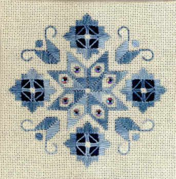 Pretty Hardanger patterns from the Nordic Needle